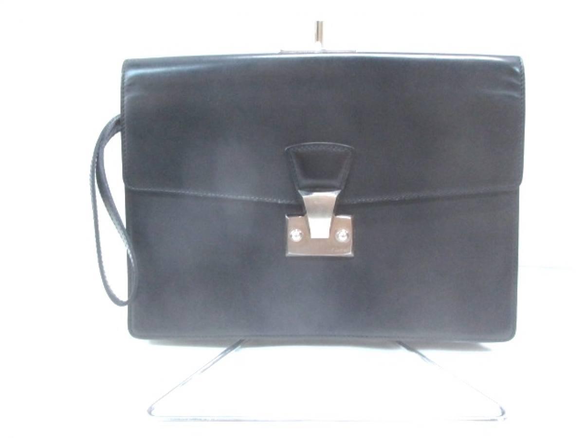 Cartier(カルティエ) セカンドバッグ - 黒 レザー【中古】