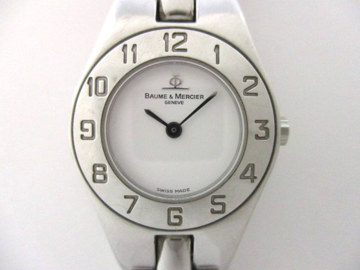 BAUME&MERCIER(ボーム&メルシエ) 腕時計 MV045204 レディース 白【中古】