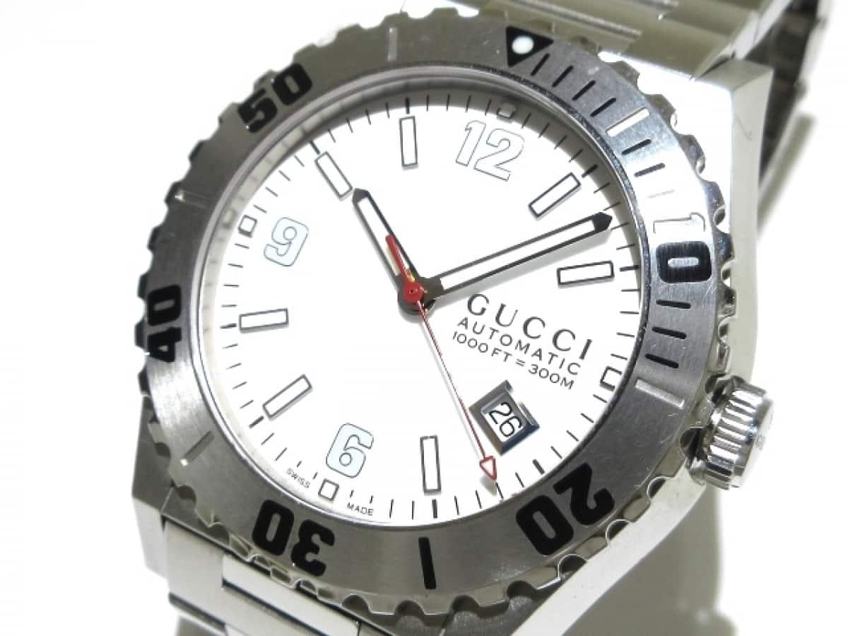 GUCCI(グッチ) 腕時計 パンテオン 115.2 メンズ 白【中古】