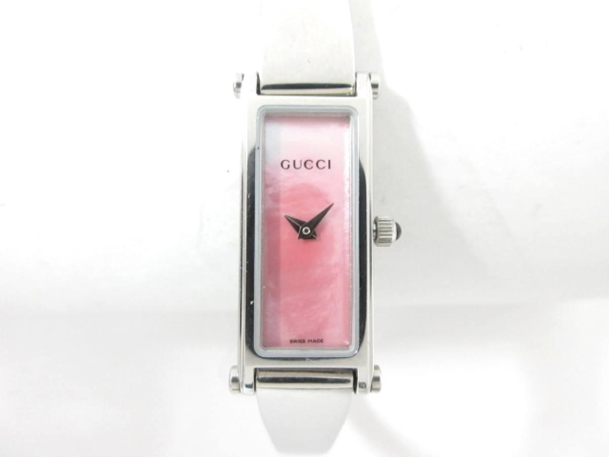 GUCCI(グッチ) 腕時計美品■ 1500L レディース ピンクシェル【中古】