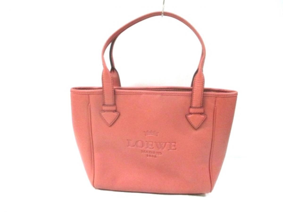 LOEWE(ロエベ) トートバッグ美品■ ヘリテージ ピンク レザー【中古】