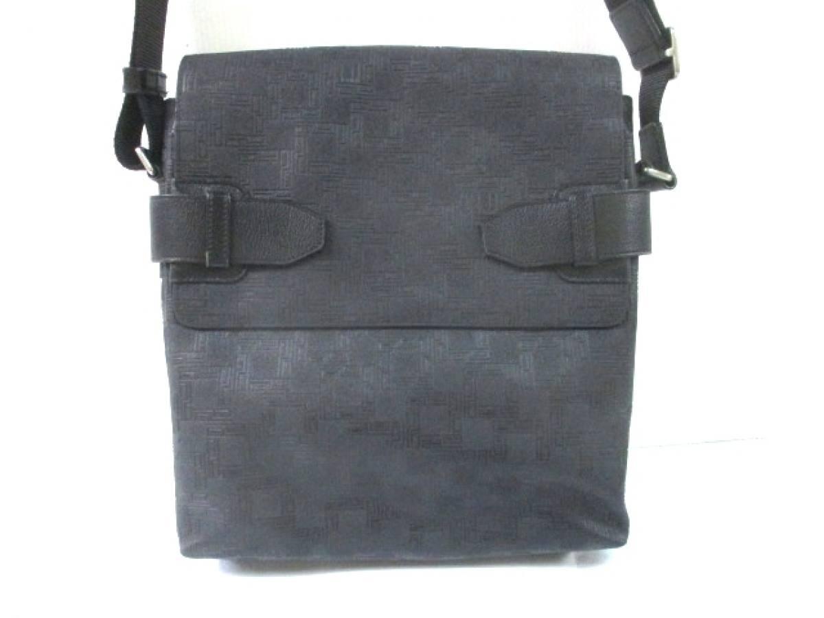 dunhill/ALFREDDUNHILL(ダンヒル) ショルダーバッグ 黒 PVC(塩化ビニール)×レザー【中古】