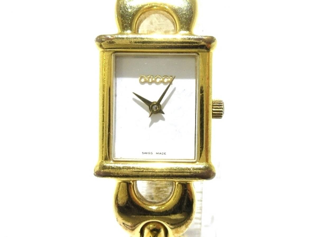 GUCCI(グッチ) 腕時計 1800L レディース 白【中古】