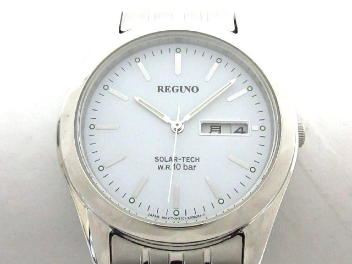 REGUNO(レグノ) 腕時計 SOLAR-TECH E101-K005299 メンズ 白【中古】