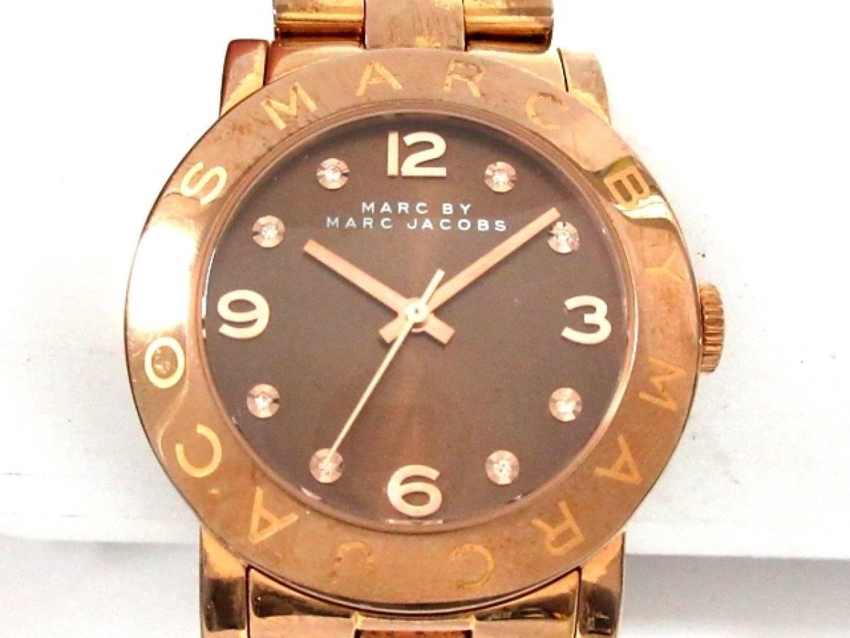 MARC BY MARC JACOBS(マークジェイコブス) 腕時計 MBM3167 レディース ダークブラウン【中古】