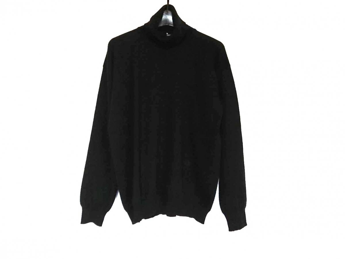 GIORGIOARMANI(ジョルジオアルマーニ) 長袖セーター サイズ48 M メンズ 黒 タートルネック/カシミヤ【中古】