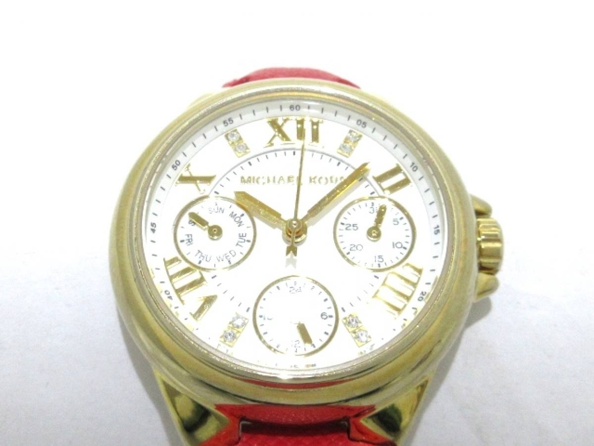 MICHAEL KORS(マイケルコース) 腕時計 MK-2321 レディース 白【中古】