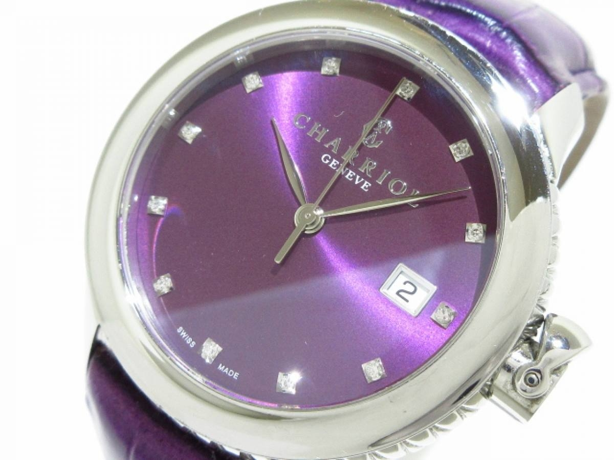 CHARRIOL(シャリオール) 腕時計 コロンブス CO36Q レディース プルーン【中古】