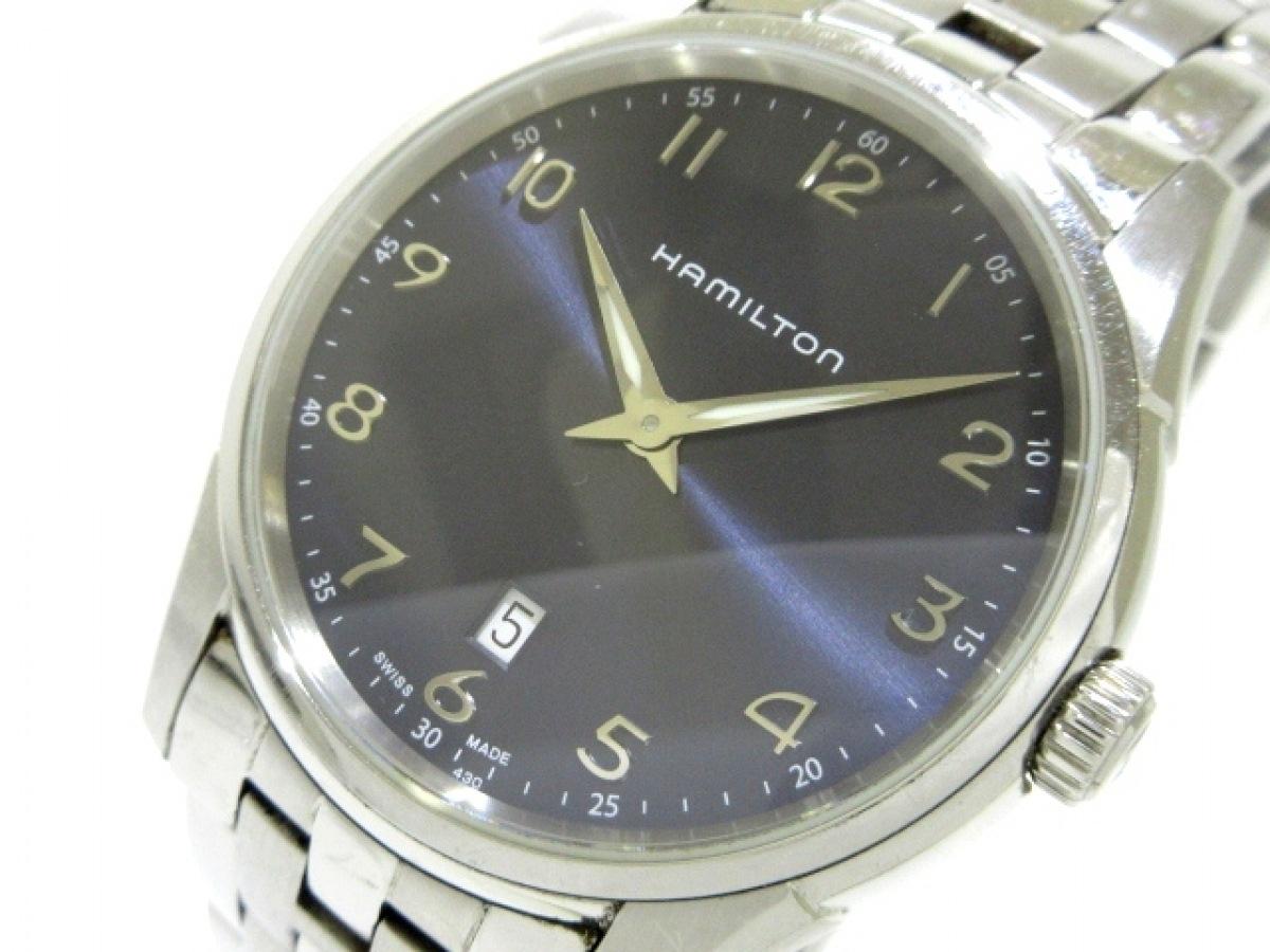 HAMILTON(ハミルトン) 腕時計 ジャズマスターシンライン H385111 メンズ ダークネイビー【中古】