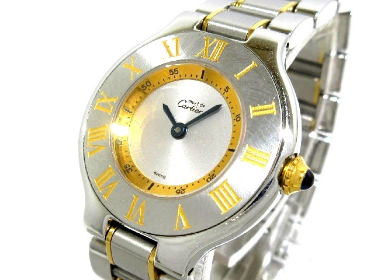 Cartier(カルティエ) 腕時計美品■ マスト21SM W10073R6 レディース シルバー【中古】