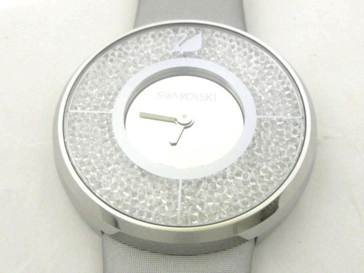 SWAROVSKI(スワロフスキー) 腕時計美品■ クリスタルライン - レディース シルバー【中古】