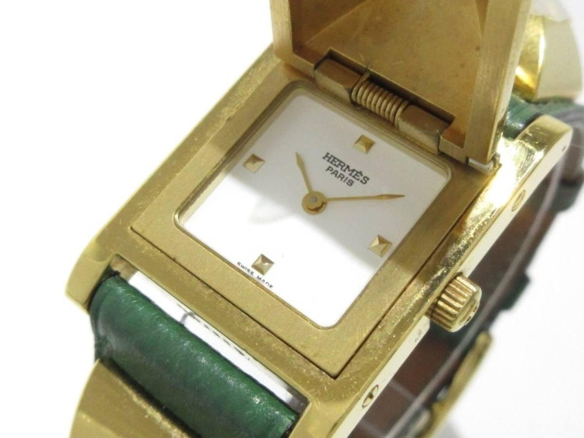 HERMES(エルメス) 腕時計 メドール - レディース 白【中古】