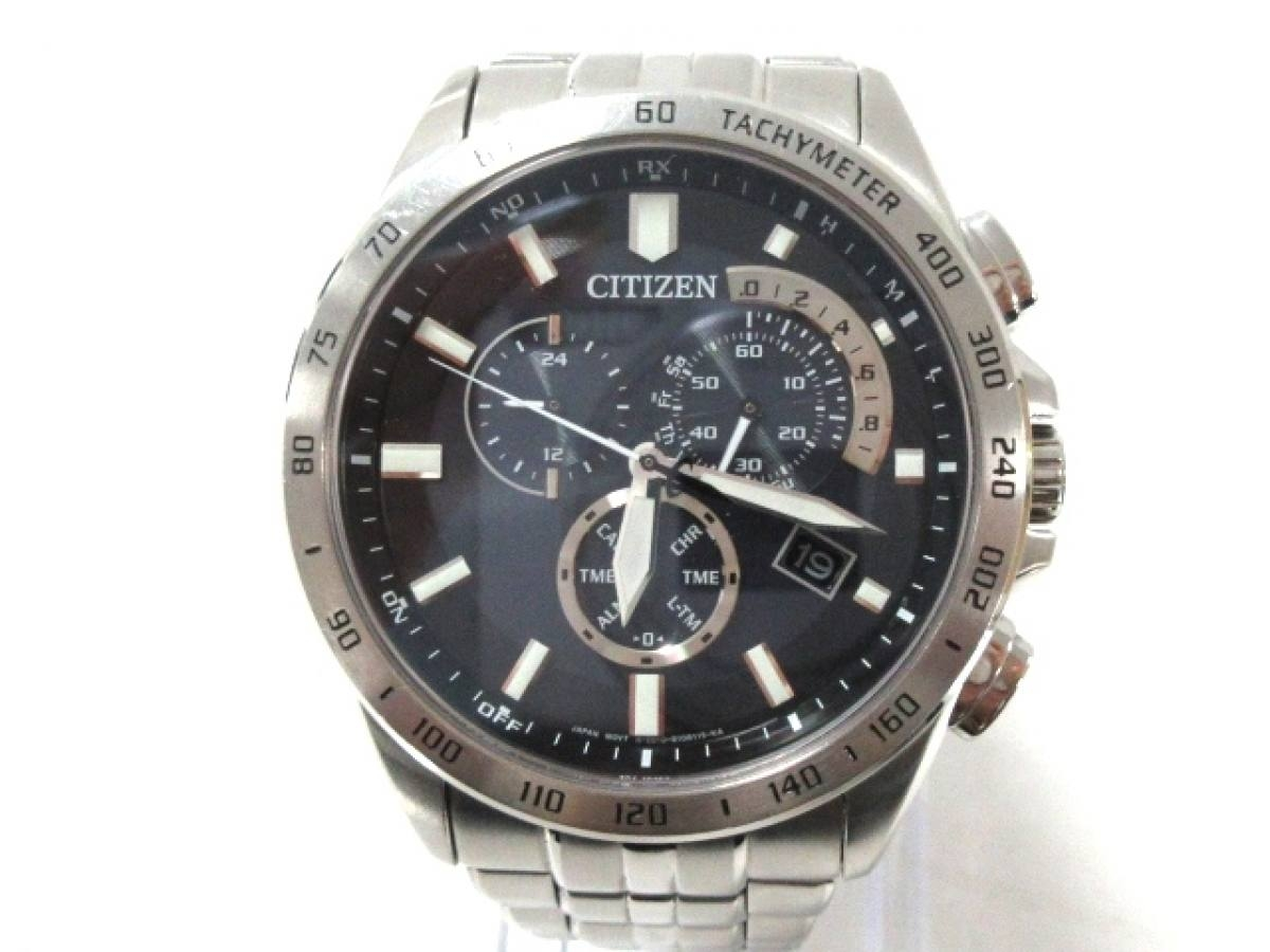CITIZEN(シチズン) 腕時計美品■ E610-S074321 メンズ 黒【中古】