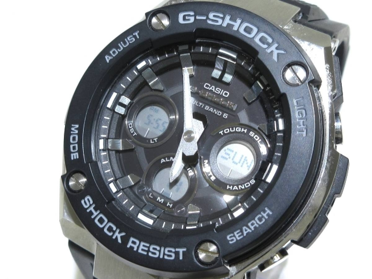 CASIO(カシオ) 腕時計 G-SHOCK GST-W300 メンズ 黒【中古】