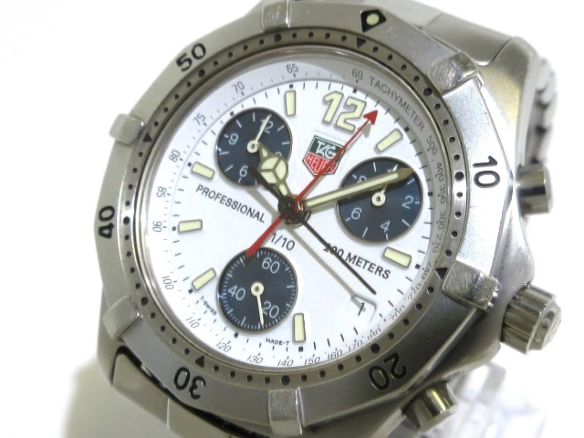 TAG Heuer(タグホイヤー) 腕時計 プロフェッショナル200 CK1111 メンズ 白【中古】