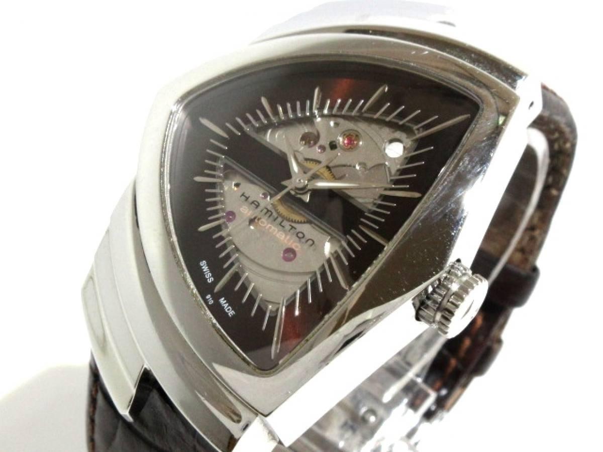 HAMILTON(ハミルトン) 腕時計 ベンチュラ H245150 メンズ ダークブラウン【中古】