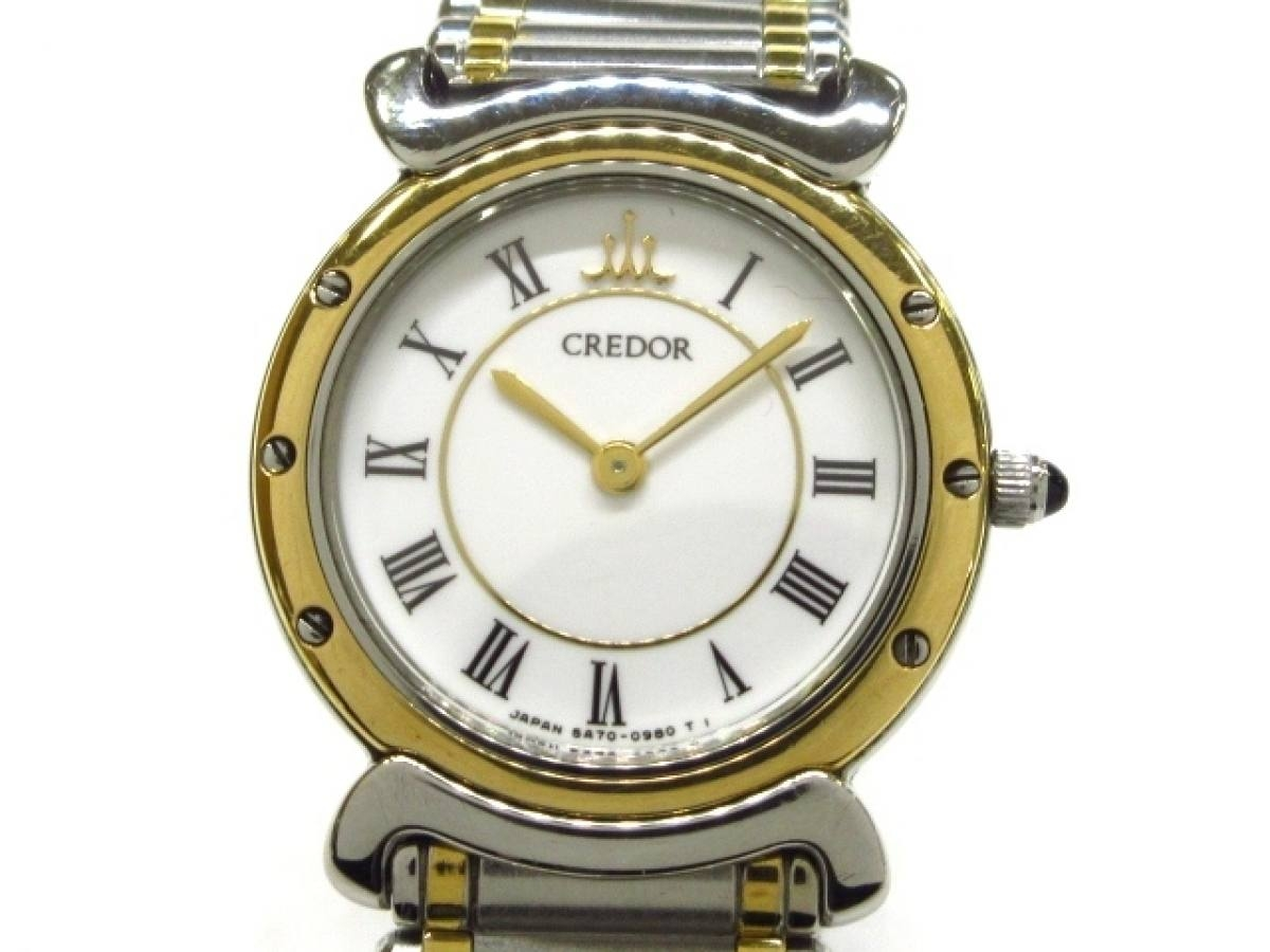 SEIKO CREDOR(セイコークレドール) 腕時計 5A70-0040 レディース 白【中古】