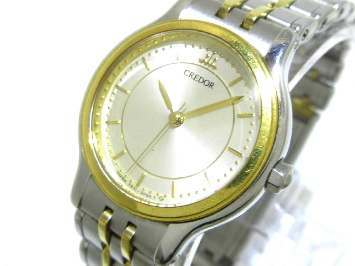 SEIKO CREDOR(セイコークレドール) 腕時計 7371-0040 レディース シルバー【中古】