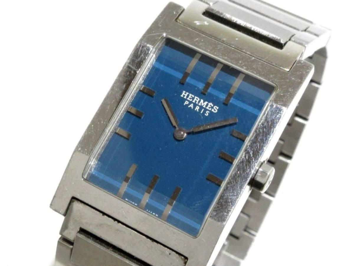 HERMES(エルメス) 腕時計 タンデム TA1.710 メンズ ブルー【中古】