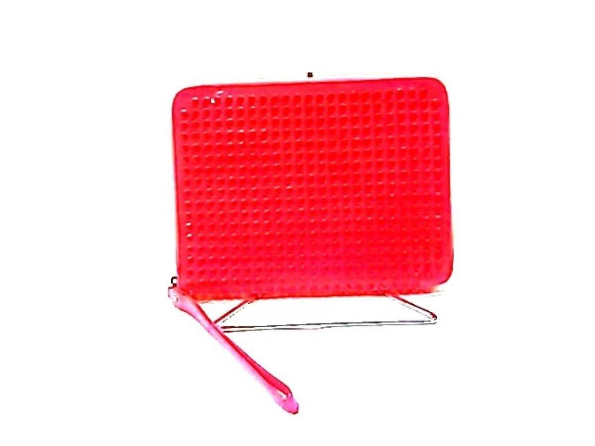 CHRISTIAN LOUBOUTIN(クリスチャンルブタン) バッグ ローラーボーイスパイク ピンク iPadケース/スタッズ エナメル(レザー)【中古】