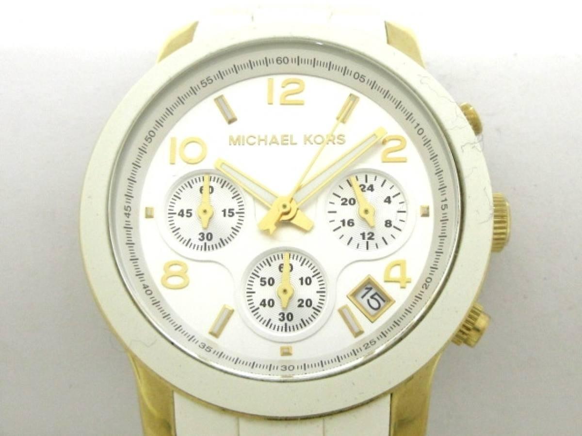 MICHAEL KORS(マイケルコース) 腕時計 ランウェイ MK-5145 レディース シルバー【中古】