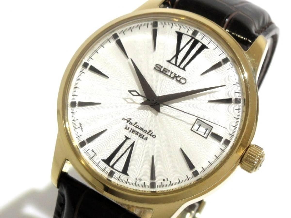 SEIKO(セイコー) 腕時計 23JEWELS 6R15-01T0 メンズ シルバー【中古】