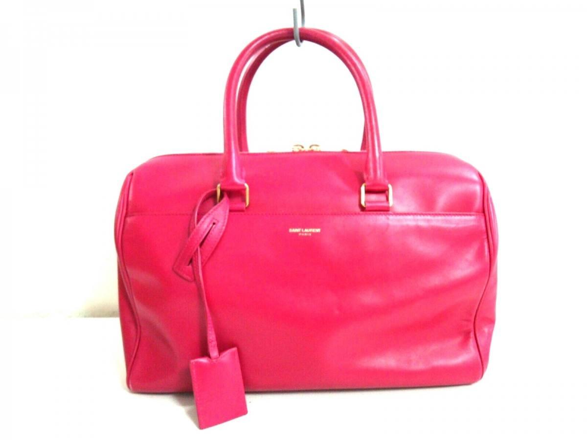 SAINT LAURENT PARIS(サンローランパリ) ハンドバッグ ダッフル 314704 ピンク レザー【中古】