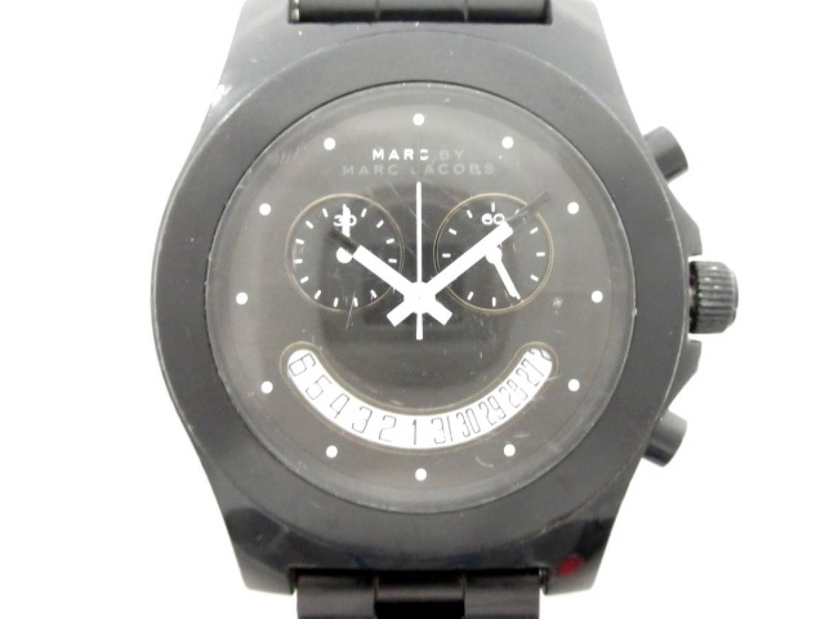 MARC BY MARC JACOBS(マークジェイコブス) 腕時計 MBM4574 ボーイズ 黒【中古】