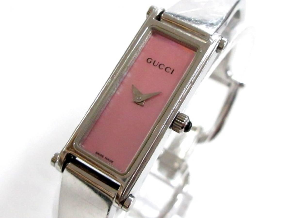 GUCCI(グッチ) 腕時計 1500L レディース シェルピンク【中古】