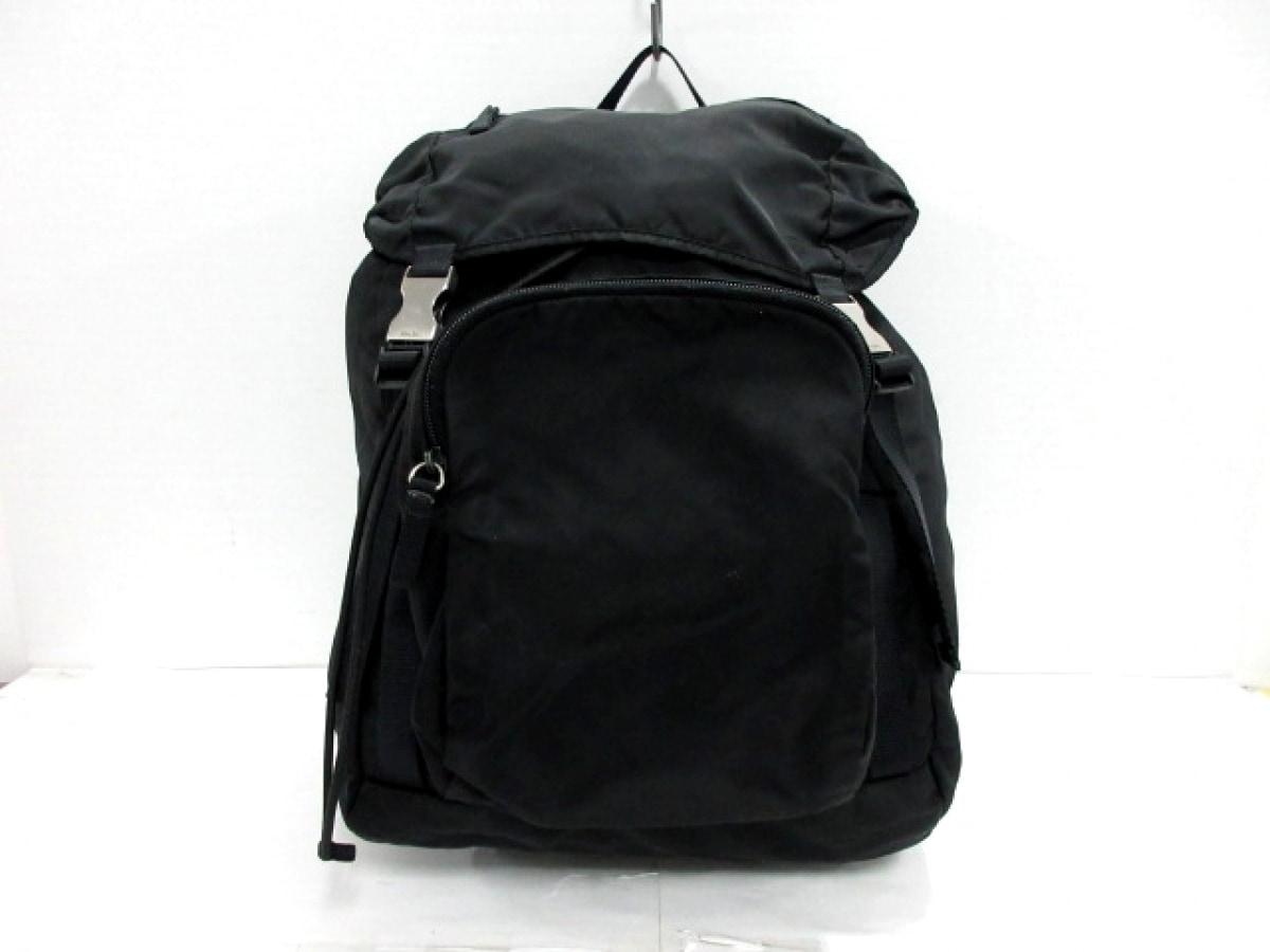 PRADA(プラダ) リュックサック - 黒 ナイロン【中古】