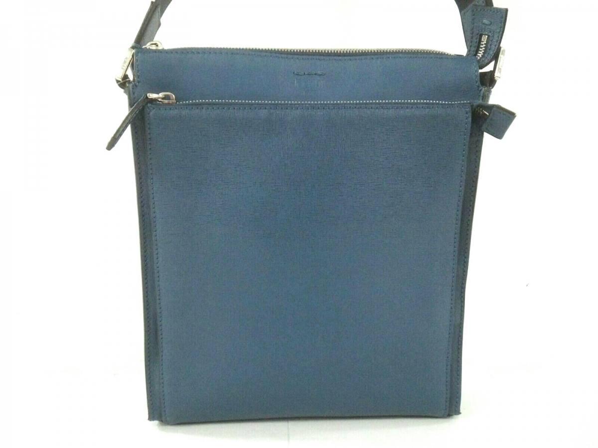 FENDI(フェンディ) ショルダーバッグ美品■ - - ブルー レザー【中古】