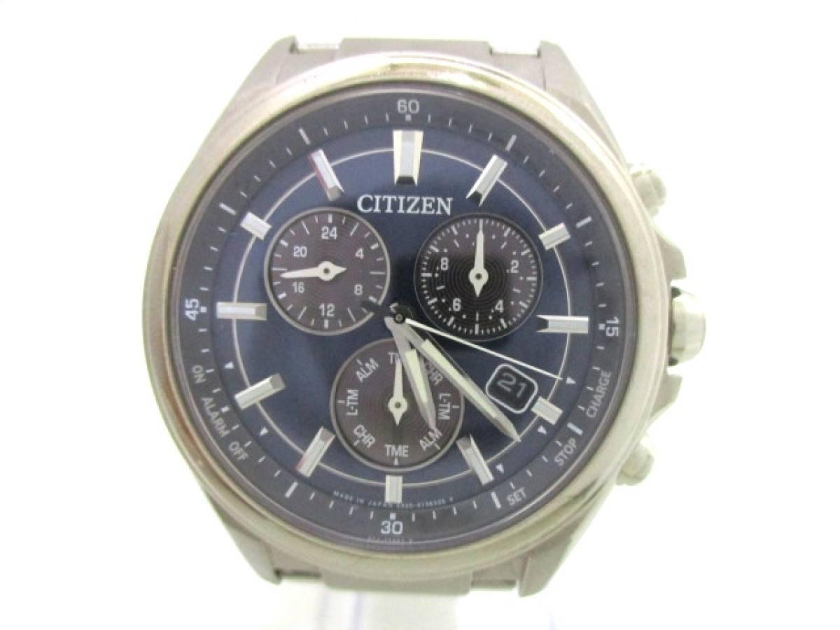 CITIZEN(シチズン) 腕時計 アテッサ E820-S096081 メンズ ネイビー【中古】