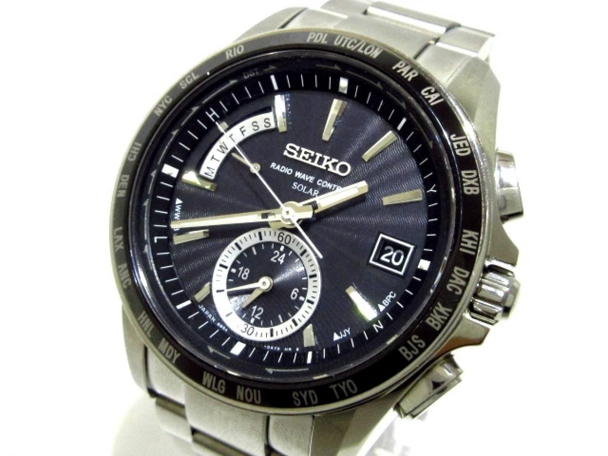 SEIKO(セイコー) 腕時計美品■ ブライツ 8B54-0BB0 メンズ 黒【中古】
