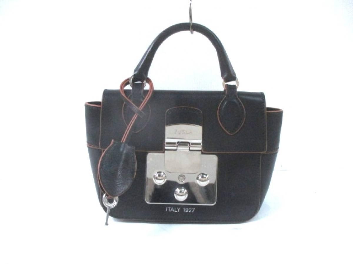 FURLA(フルラ) ハンドバッグ美品■ マントラ 黒 ミニサイズ/ITALY 1927 レザー【中古】