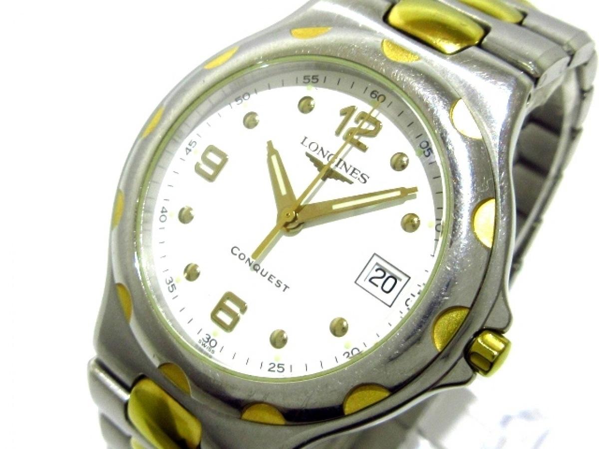 LONGINES(ロンジン) 腕時計 コンクエスト L1.631.3 メンズ 白【中古】