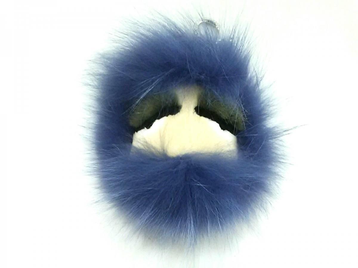 d3a666a77678 FENDI(フェンディ) キーホルダー(チャーム)新品同様□ バッグバグズ ブルー×イエロー