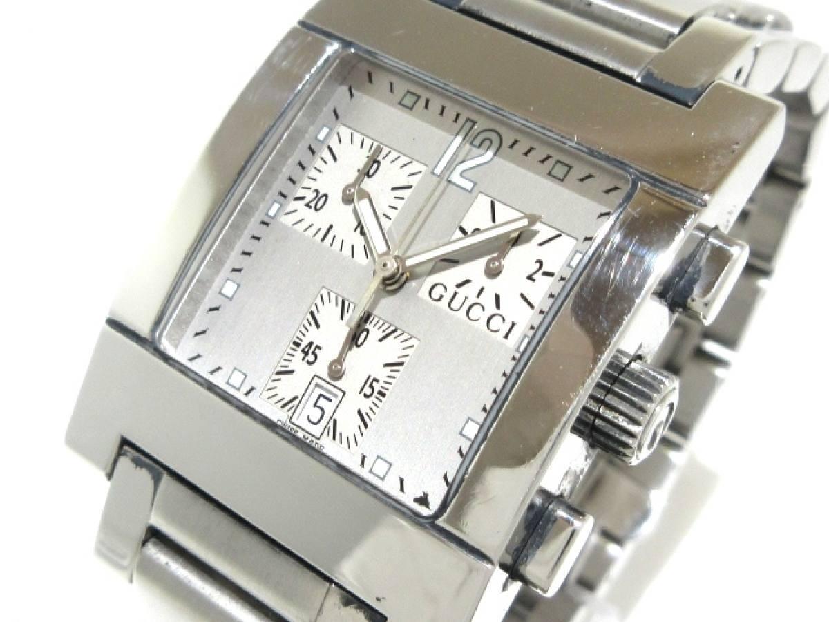 GUCCI(グッチ) 腕時計 7700 メンズ シルバー【中古】