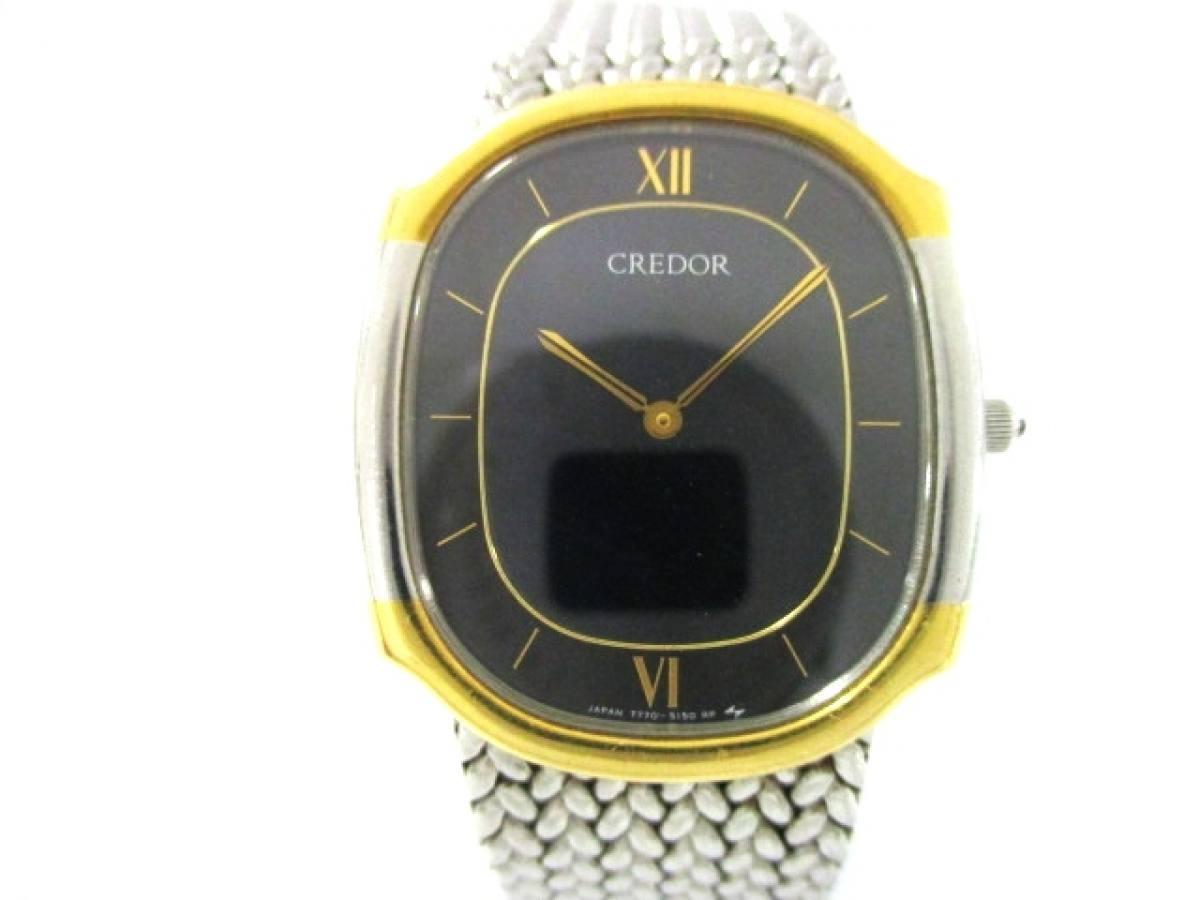 SEIKO CREDOR(セイコークレドール) 腕時計美品■ 7770-5141 メンズ 黒【中古】