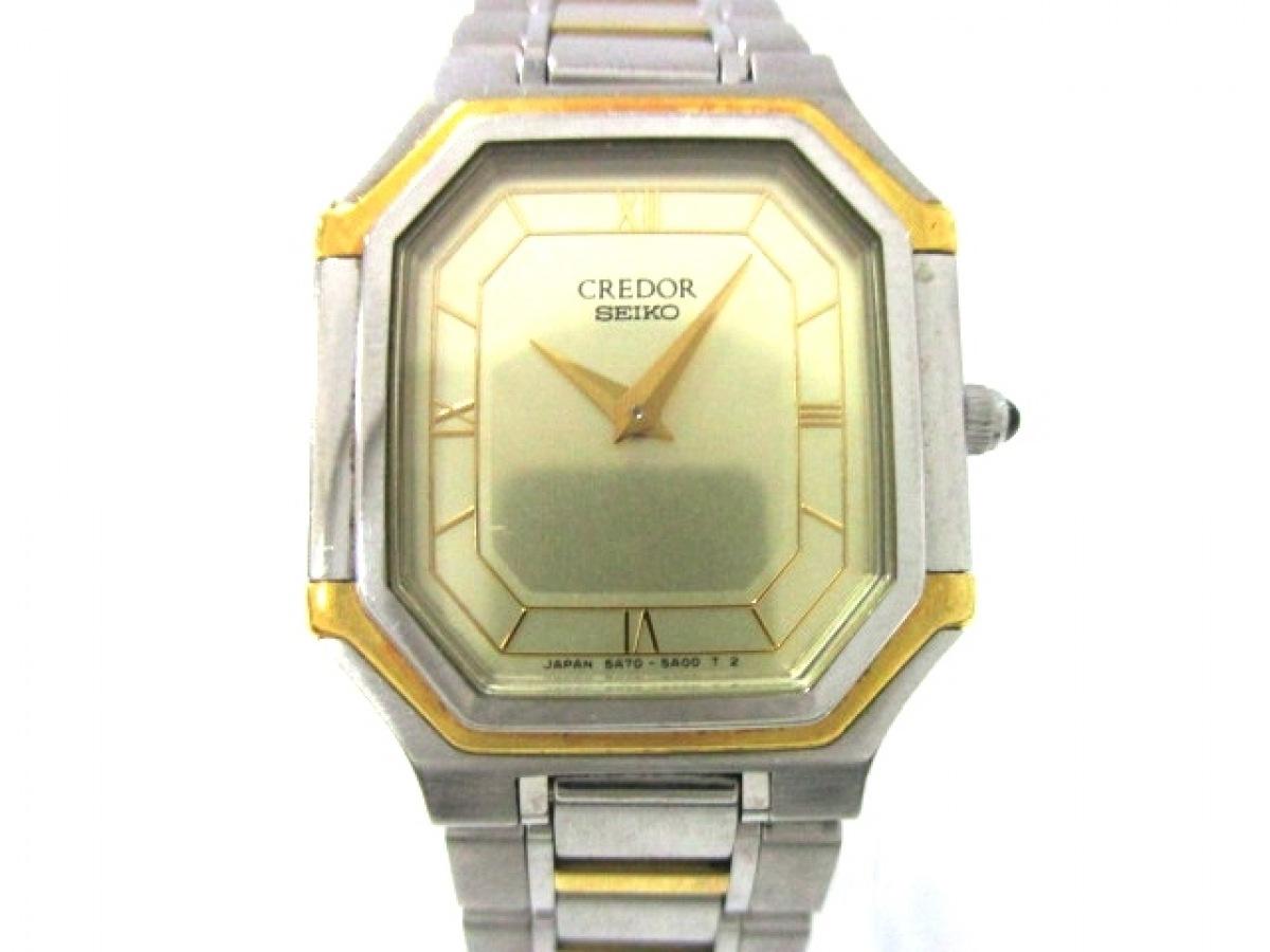 SEIKO CREDOR(セイコークレドール) 腕時計美品■ 5A70-3A00 レディース ゴールド【中古】