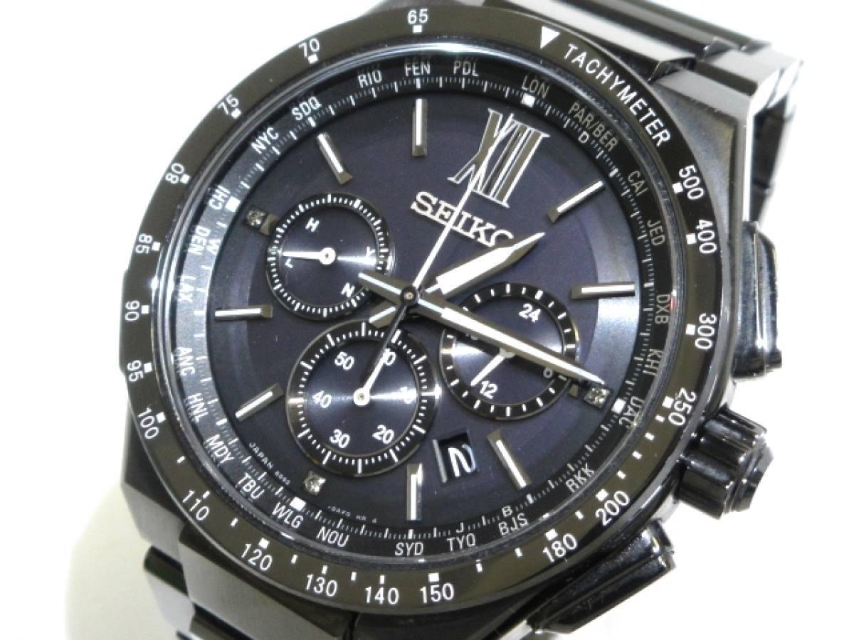 SEIKO(セイコー) 腕時計 ブライツ 8B92-0AE0 メンズ 黒【中古】