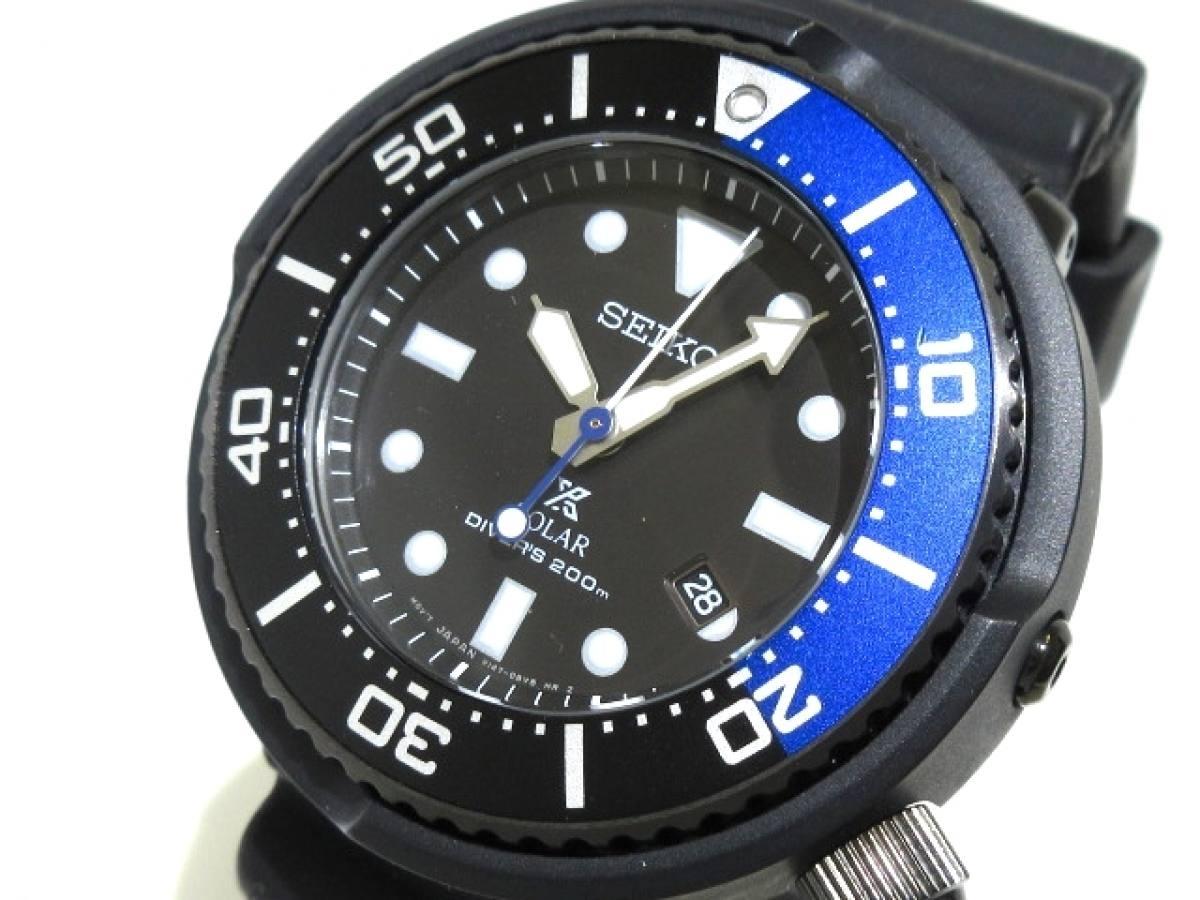 SEIKO(セイコー) 腕時計 プロスペックダイバーズ V147-0BL0 メンズ 黒【中古】