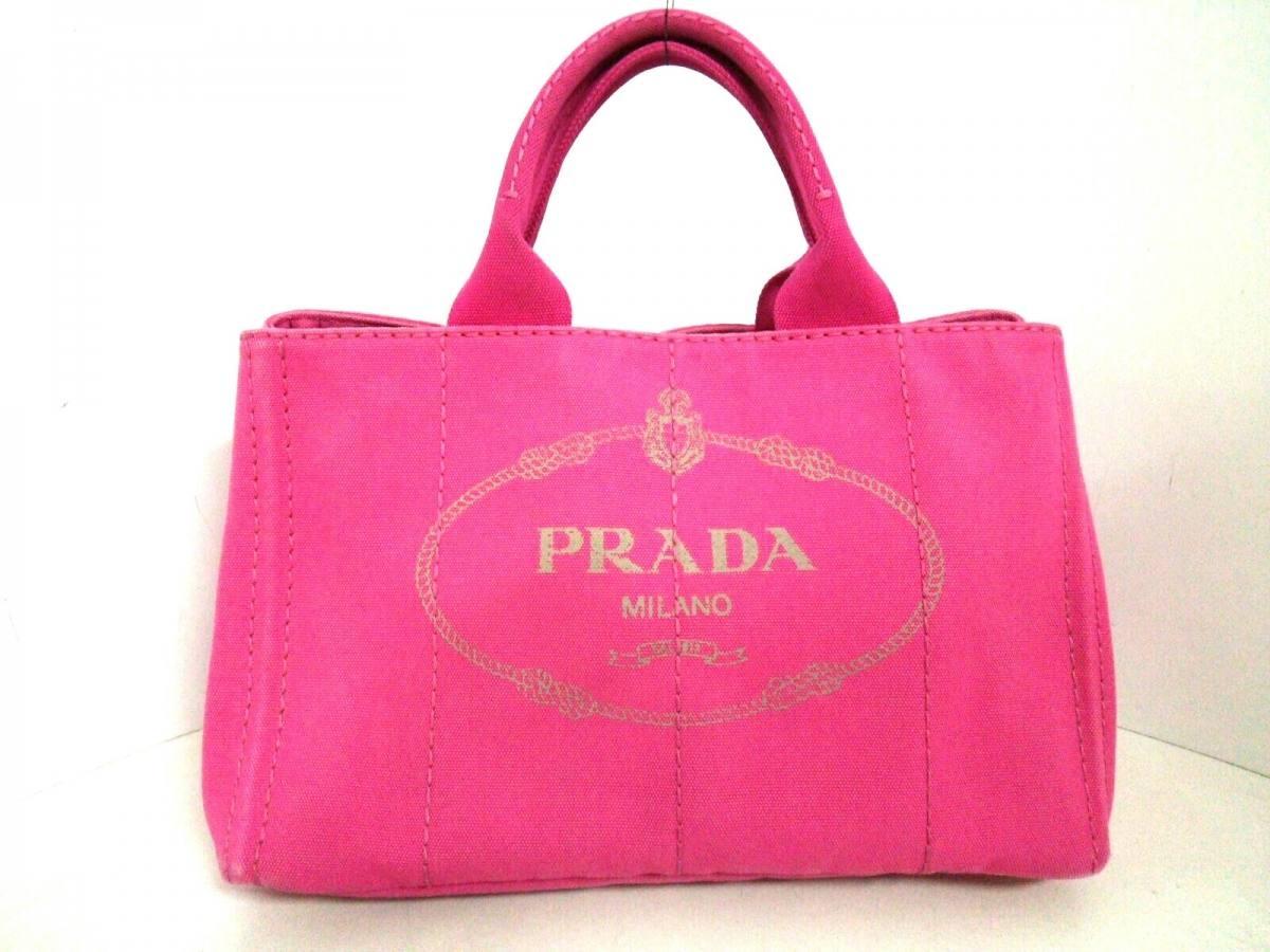 PRADA(プラダ) トートバッグ CANAPA B1877G ピンク キャンバス【中古】