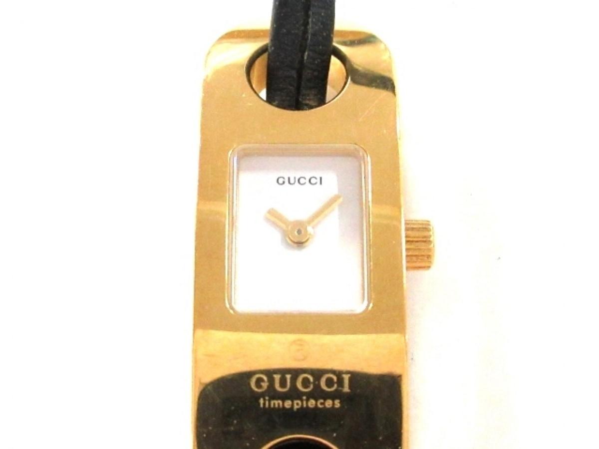 GUCCI(グッチ) 腕時計 6100L レディース 白【中古】