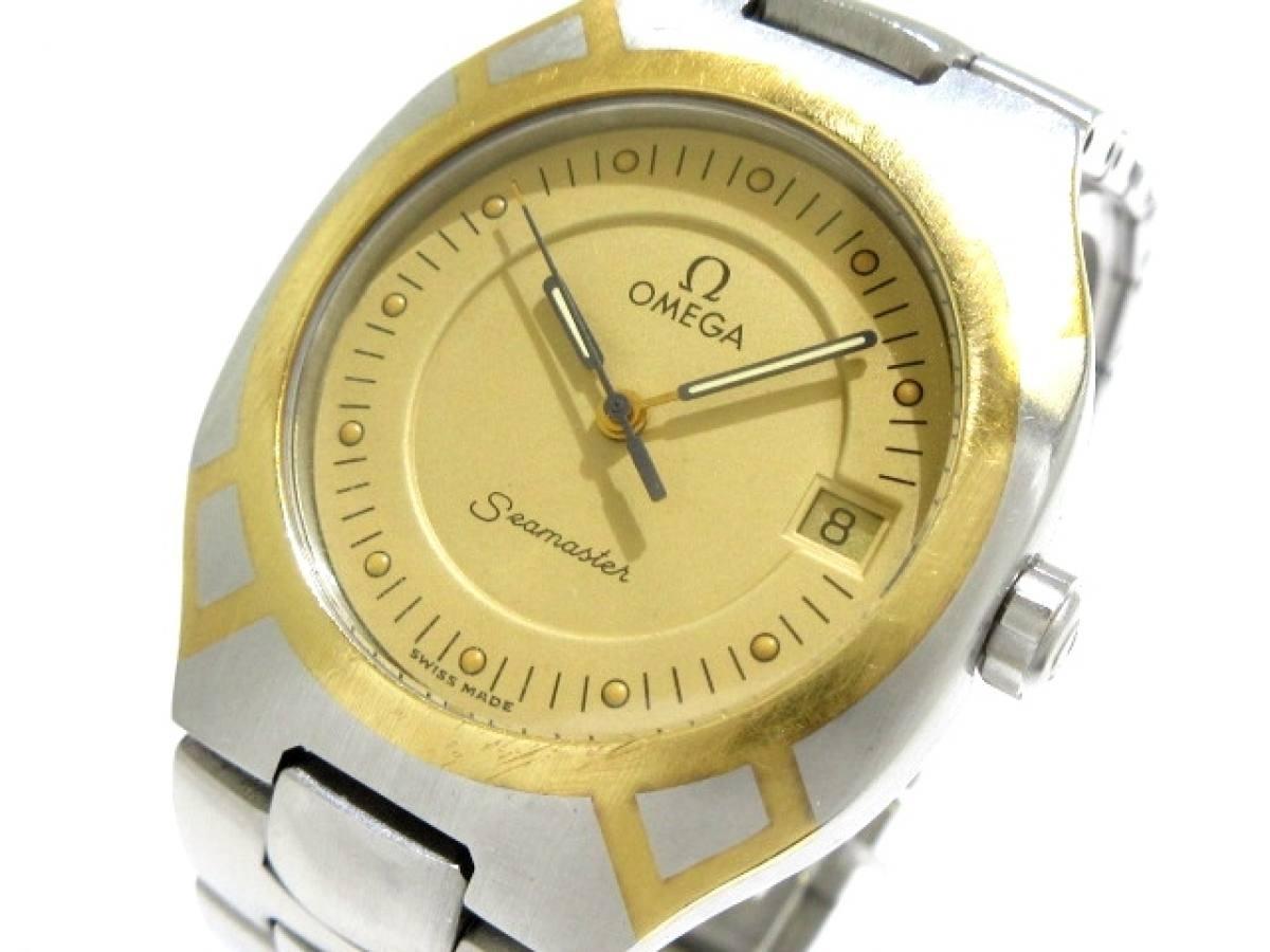 OMEGA(オメガ) 腕時計 シーマスターポラリス - メンズ ベージュ【中古】
