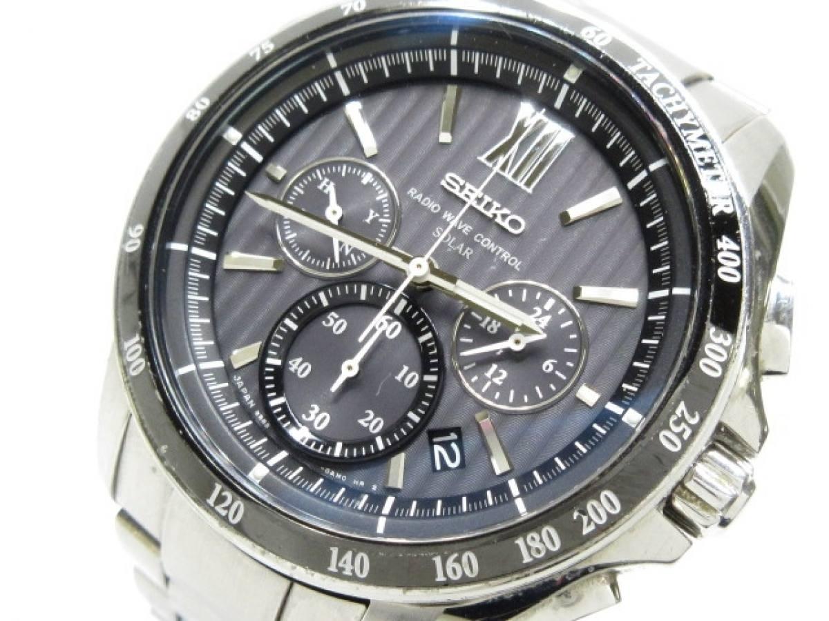 SEIKO(セイコー) 腕時計 ブライツ 8B82-0AL0 メンズ 黒【中古】