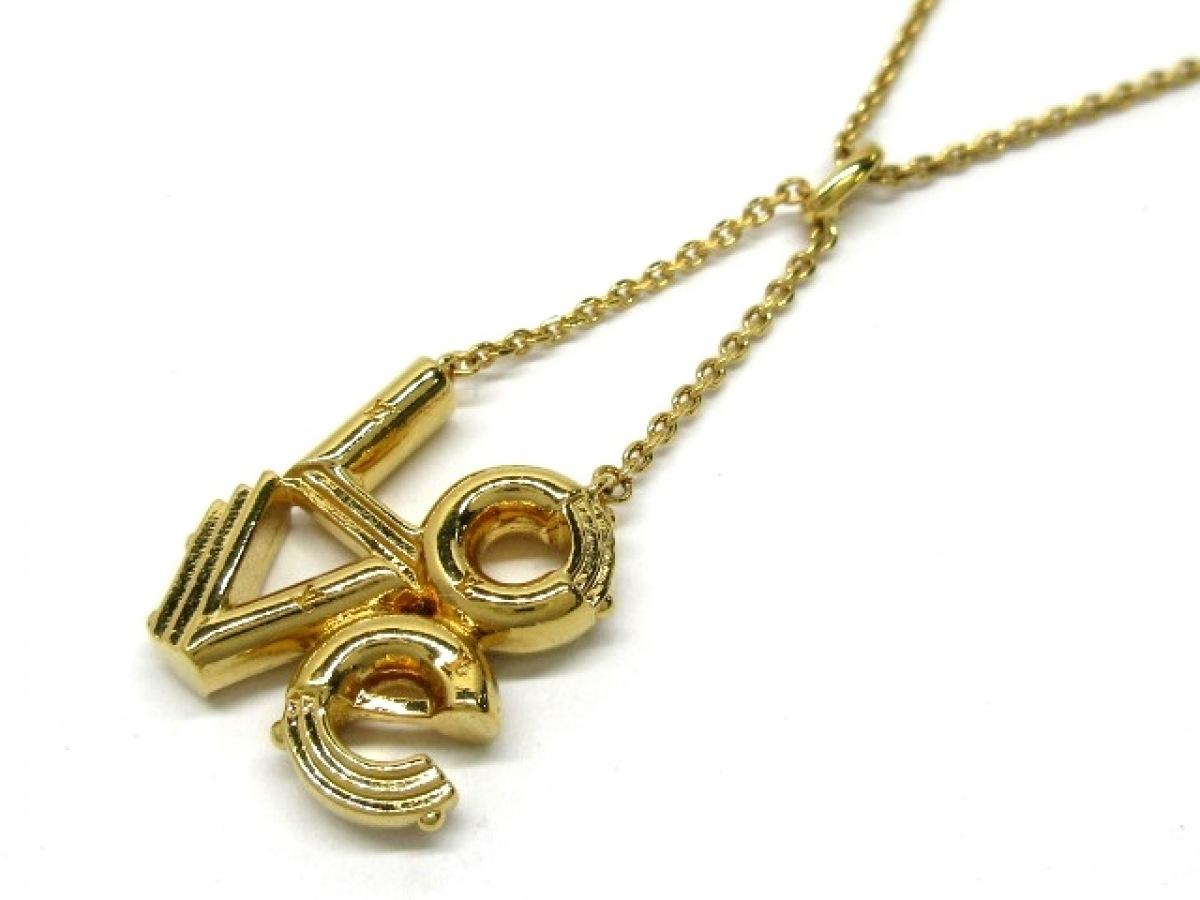 LOUIS VUITTON(ルイヴィトン) ネックレス美品■ LV&ME LOVE M62843 金属素材 ゴールド【中古】