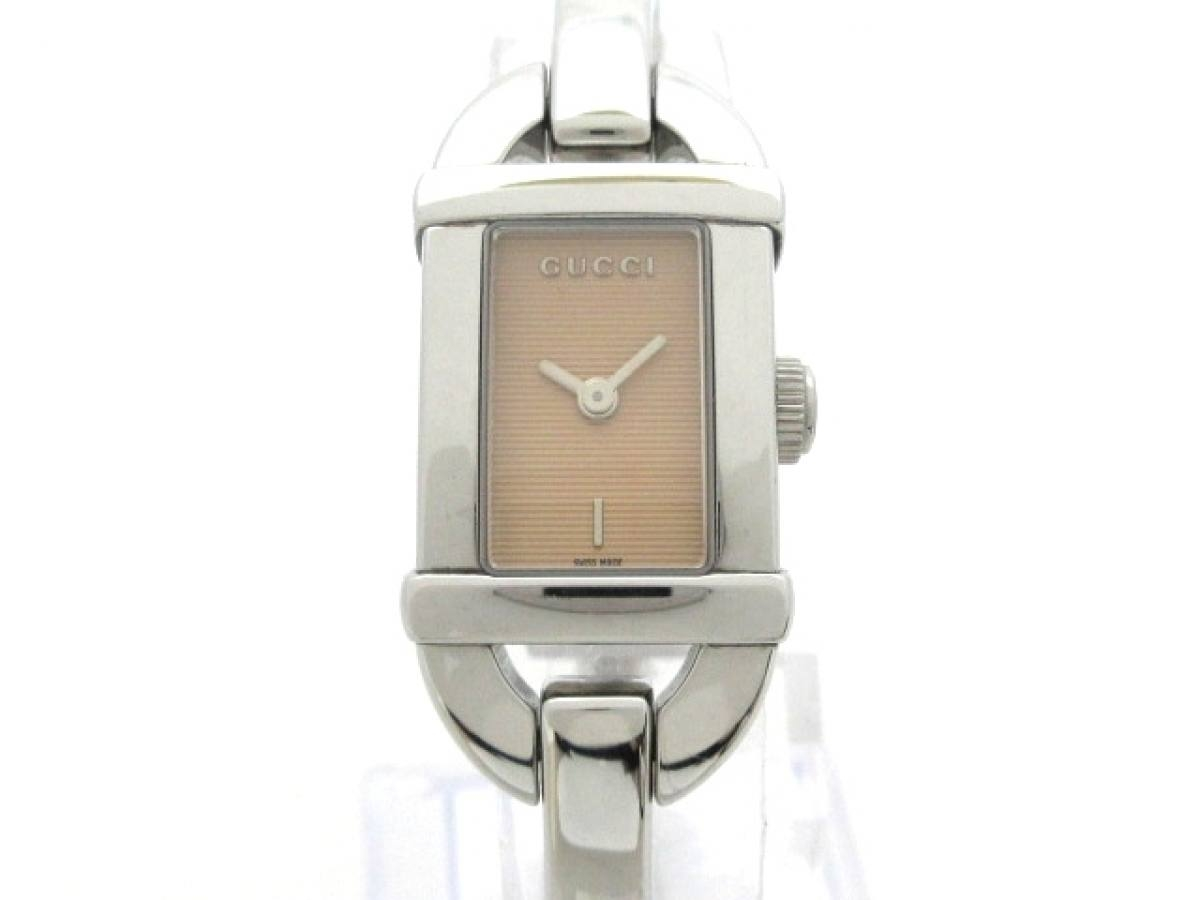 GUCCI(グッチ) 腕時計美品■ 6800L レディース ライトブラウン【中古】