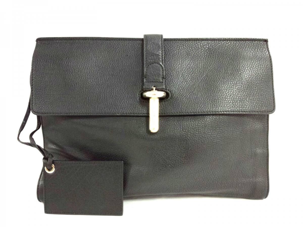 BALENCIAGA(バレンシアガ) クラッチバッグ Tube Clutch Bag 286406 黒 レザー【中古】