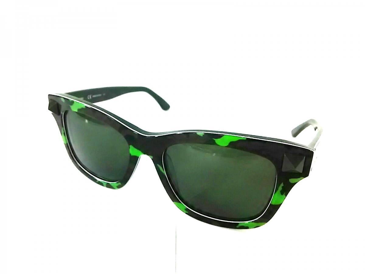 VALENTINO(バレンチノ) サングラス美品■ V670SC ダークブラウン×グリーン 迷彩柄/スタッズ プラスチック【中古】