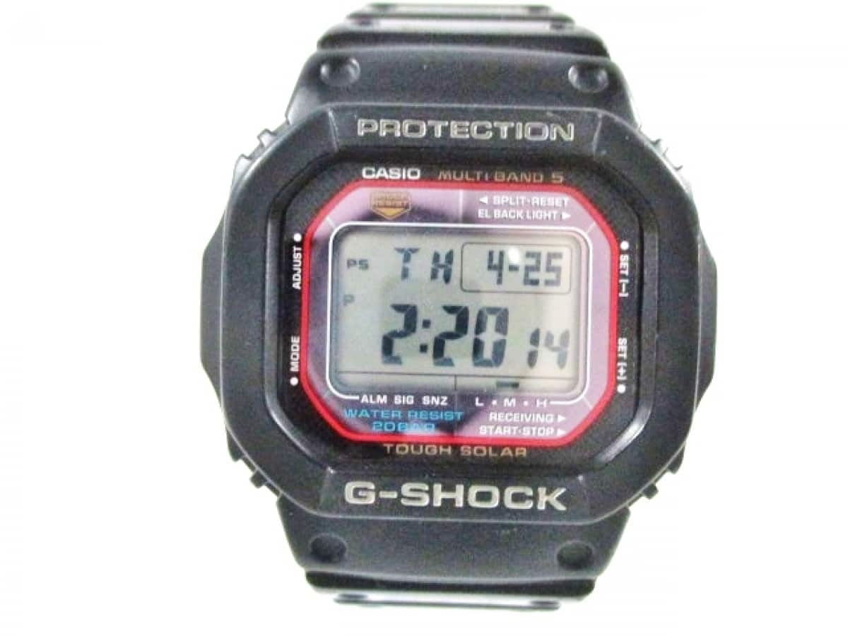 CASIO(カシオ) 腕時計 G-SHOCK GW-M5600 メンズ 黒×レッド【中古】
